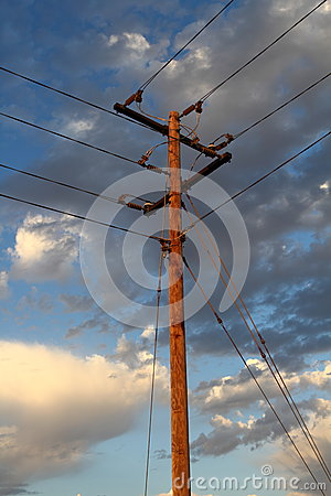 Utility power line pole