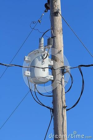 Utility power line transformer