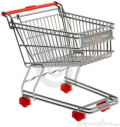Utklippshoppingtrolley