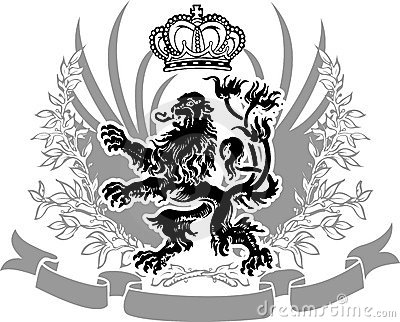 Utsmyckad dekorativ heraldik för baner