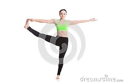 utthita hasta padangustasana yoga pose stock photo  image
