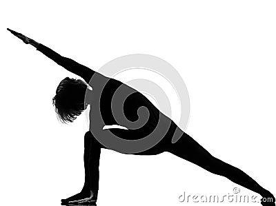 Utthita parsvakonasana woman yoga pose