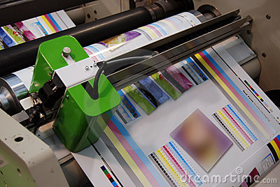 UV flexo press printing