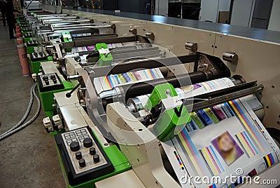 UV flexo press printing