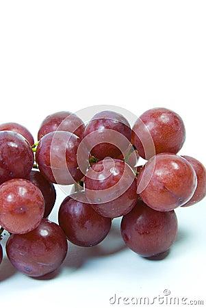 Uvas seedless suculentas vermelhas