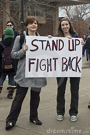 UW-Milwaukee Union-Rights Rally Editorial Stock Image
