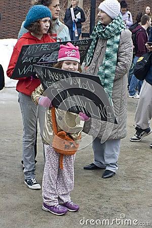 UW-Milwaukee Union-Rights Rally Editorial Photography