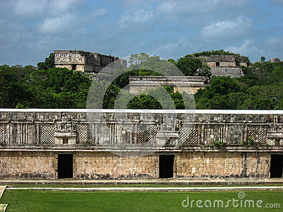 Uxmal Carved Wall Yucatan Mexico