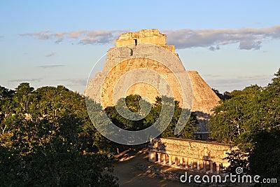 Uxmal Mayan Pyramid, Yucatan, Mexico