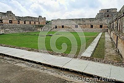Uxmal Nunnery Square Yucatan Mexico