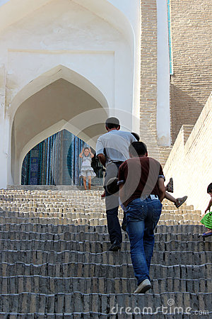 Uzbek pilgrimage to Khiva Editorial Photography
