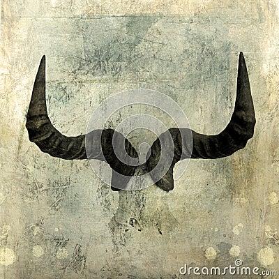 Uzbrajać w rogi wildebeest