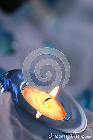 Vädrat stearinljus