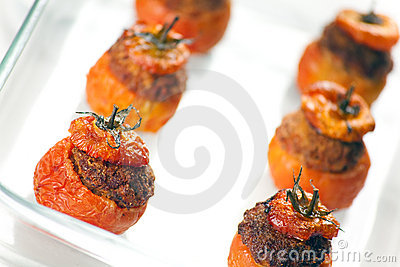 Välfyllda tomater för meat