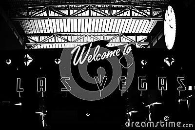 Välkomnande till Las Vegas Redaktionell Arkivfoto