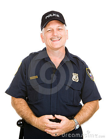 Vänlig tjänstemanpolis