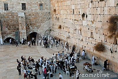 Västra jerusalem vägg Redaktionell Arkivfoto