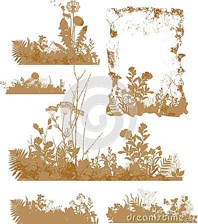 Växter silhouette