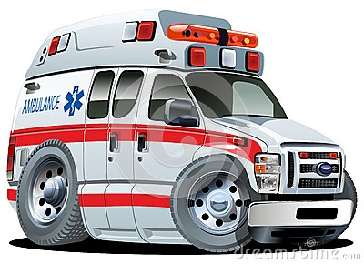 Véhicule D'ambulance De Dessin Animé De Vecteur Image stock - Image: 25328221