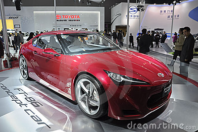 Véhicule de concept de Toyota FT-86 Photo éditorial