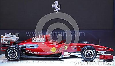 Véhicule de la formule 1 de Ferrari Photo stock éditorial