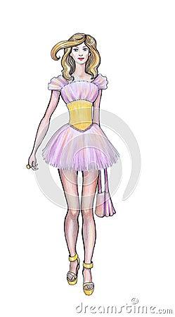V tements de haute couture de croquis couturier illustration stock image 40830143 - Dessin couturiere ...