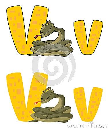 Víbora da letra V