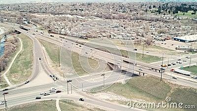Vídeo Da Interstate 70 E Sheridan Boulevard Em Arvada, Colorado video estoque