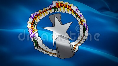 Vídeo do Circuito de Movimento CNMI (Ilhas Marianas do Norte) acenando com vento Fundo Realista da Bandeira Mariana Ilhas Mariana ilustração do vetor