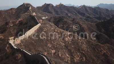 vídeo 4k aéreo do Grande Muralha de Jinshanling vídeos de arquivo
