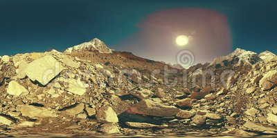 360 V av Everest Base-lägret i Khumbu glacier Khumbu-dalen, nationalparken Sagarmatha, Nepal Himalayas EBC arkivfilmer