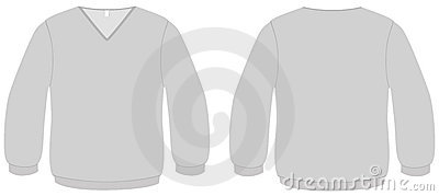 V-neck sweater template vector illustration