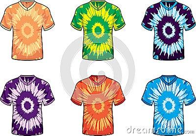 V-neck Tie Dye Shirts