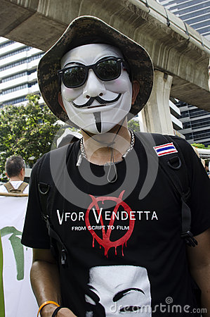 V for Vendetta Editorial Stock Photo