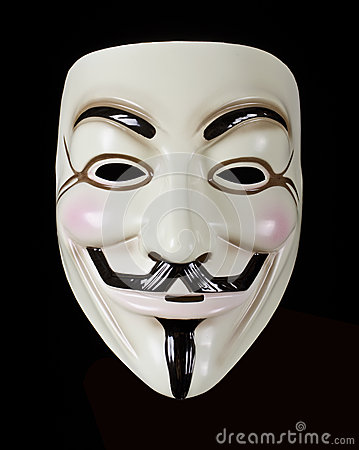 V for Vendetta or Guy Fawkes mask Editorial Photo