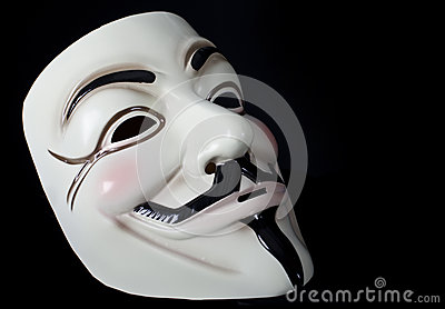 V for Vendetta or Guy Fawkes mask Editorial Stock Photo