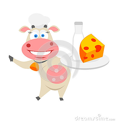 Vaca de la comida