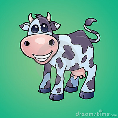 Vaca lechera feliz