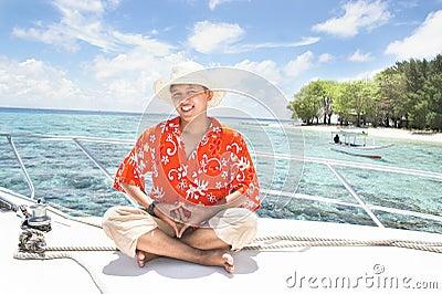 Vacaciones tropicales de la isla