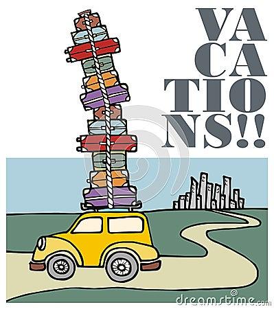 Vacances courantes de ville partie de véhicule