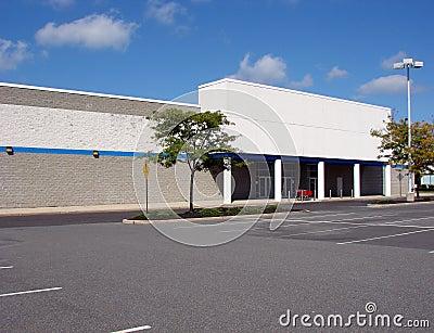 Vacant Abandoned Big Box Store Empty Parking Lot