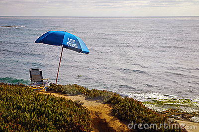 Vacant Lifeguard Post