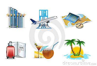 Vacantion and holiday icons