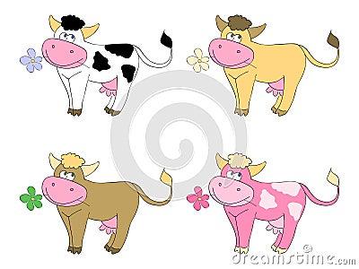 Resultado de imagem para cartoons de vacas
