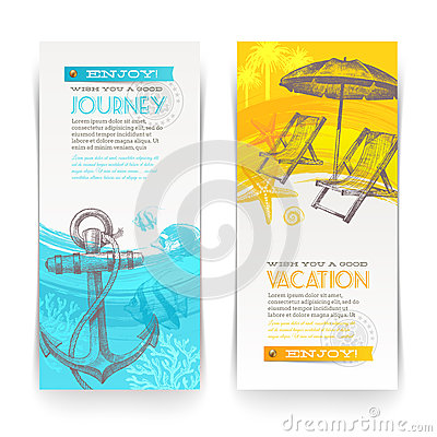 Free Vacation And Travel Banners Royalty Free Stock Image - 33124476
