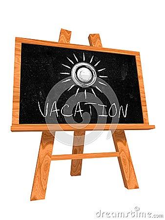 Vacation on blackboard