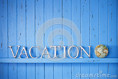 Vacation Globe Word Background