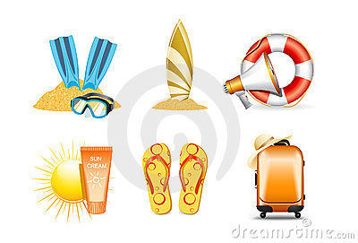 Vacation and holiday icons 4