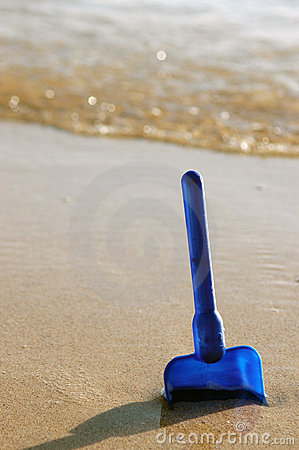 Vacation Image of Child s Toy on Beach