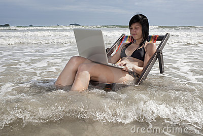 Vacation with laptop